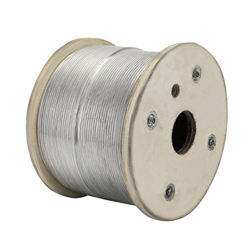 """LOVSHARE 1/8"""" 1000FT Wire Rope T316 Stainless Steel Cable Railing 1x19 Strand Core Cable Reel by LOVSHARE (Image #4)"""