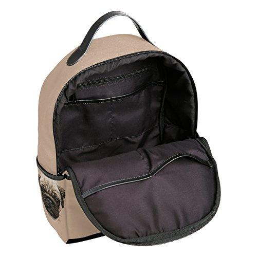 ALAZA mochila lienzo bolso Casual Daypack Mochila, cabeza de perro carlino: Amazon.es: Electrónica