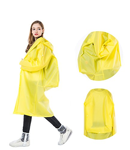 Jinhe Environmental Protection EVA Adult Raincoat with Backpack Outdoor Hiking Raincoat Men and Women Travel one-Piece Raincoat