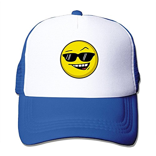 MULTY9 - Smiley Graphic - Adult Unisex Adjustable Mesh Back Cap Trucker Hat Cap - Mall Tampa Fashion