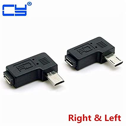 1pcs Micro 5-Pin USB Male To Female Jack USB 2.0 Left Angle Connector Adapter