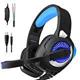 PHOINIKAS Xbox One Headset, Gaming Headset for PS4, PC, Nintendo Switch, Over-Ear Surround Stereo Noise Canceling Headset with Microphone Volume Control System Advanced Protein Memory Cotton