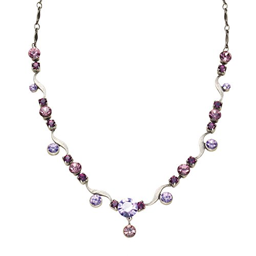 Women's Dorset Crystal Necklace - Gem with Bar-link - Glasses Bedazzled