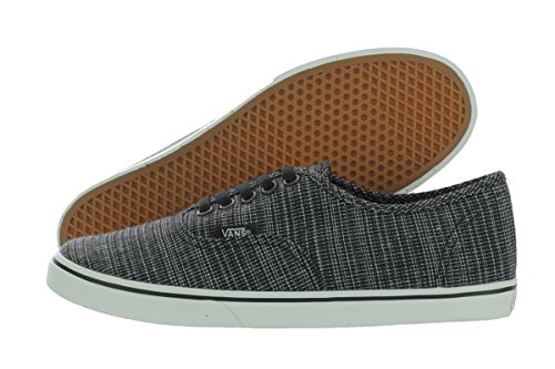 Vans Unisex Authentic Lo Pro Woven Chambray Sneakers black M4.5 W6