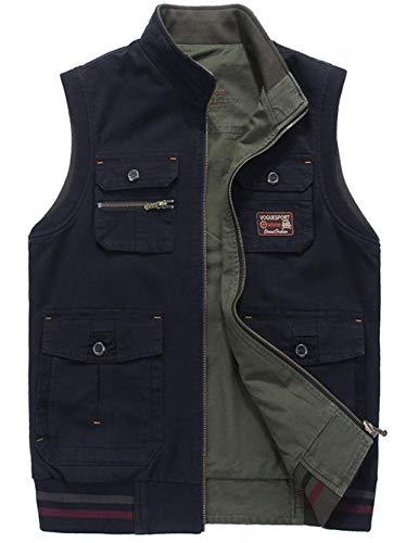 Good Esterno Multifunction Off Tasche Ad 1 Asciugatura Sportivo Outdoor Jacket Molte Gilet Rapida In Da Uomo Traspirante Dunkelblau Con nwvP0xqzt6