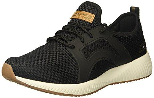 BOBS from Skechers Women's Bobs Sport-Insta Cool Fashion Sneaker, Black, 9.5 M US