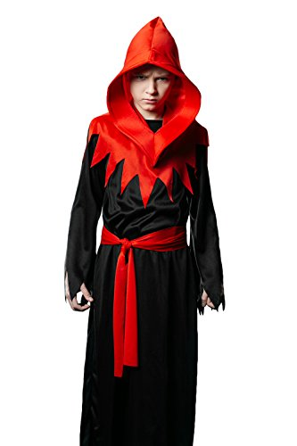 Child Devil Costume Boy (Kids Unisex Demon Halloween Costume Little Devil Diablo Goth Dress Up & Role Play (8-11 years))