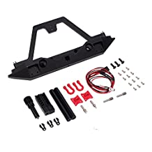 INJORA Rear Bumper for Axial SCX10 & SCX10 II 90046 90047 Traxxas TRX-4 TRX4 with Light,Metal,1/10 RC Crawler Car Upgadeparts
