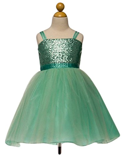 Sequined Bodice (Yaya Fairies Efavormart Twinkling Sequined Bodice and Tulle Overlay Skirt Dress - Mint - Child4-5yrs)