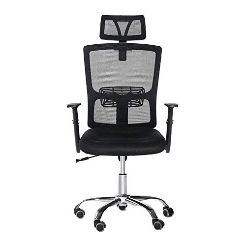 BCGI Home Office Desk Chair Ergonomic Mesh Chair with Adjustable Headrest and Armrest,360 Degree Swivel Modern Computer Task Chair for Office, Home and Study Room