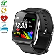 Fitness Tracker, Waterproof Big Color Screen Activity Tracker with Heart Rate Monitor Watch,...