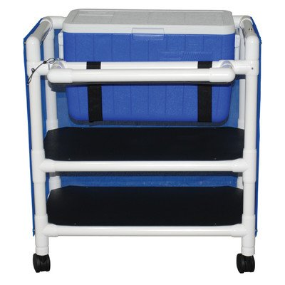 Hydration Utility Cart with 48 Quart Ice Chest Color: Royal Blue, Cover Type: (810 Pro Cabinet)