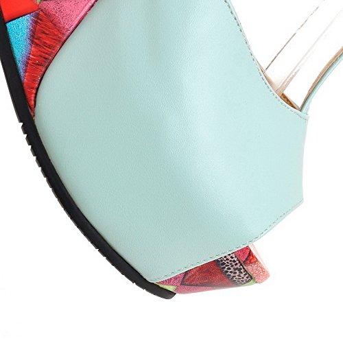 Adee Womens Assorted Color High-Heels Polyurethane Sandals Blue Hk22eJdi