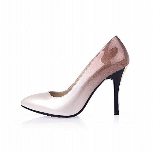 Latasa Femmes Gradient Couleur Pointe-toe Chaussures À Talons Hauts Robe Dégradé Abricot