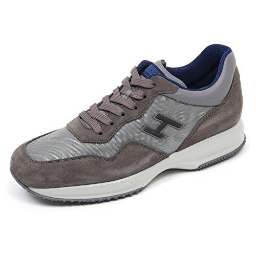 Hogan C7452 Sneaker Uomo Interactive Scarpa H Flock Grigio Shoe Man Grigio