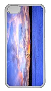 Customized iphone 5C PC Transparent Case - Fire Above Ice Below Personalized Cover