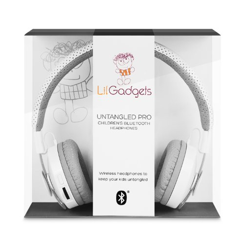 LilGadgets Untangled Pro Children's Wireless Bluetooth Headphones White, Best Gadgets