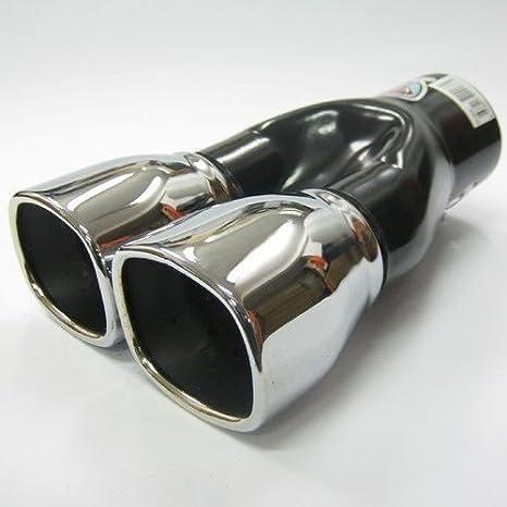 Boloromo 266 Universal Auspuff Blende Doppelrohr Endrohr Edelstahl Auspuffblende 43-57mm /Ø Chrom