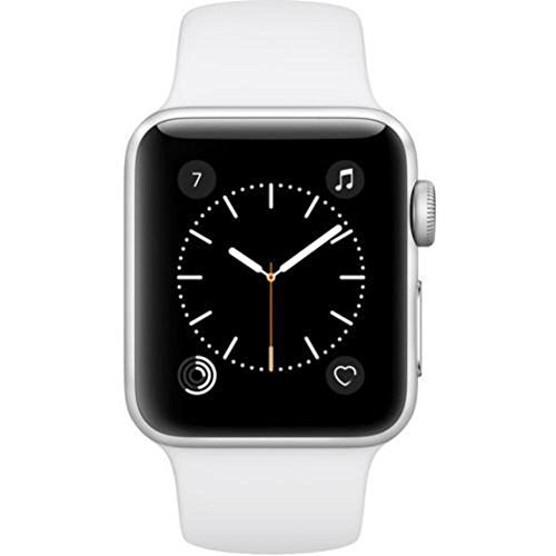 Apple Watch Series 2 - 38mm Silver Aluminum Case with White Sport Band - MNNW2LL/A