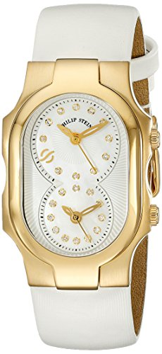 Philip-Stein-Womens-1GP-NGDMOP-IW-Signature-Stainless-Steel-Watch-with-White-Leather-Band