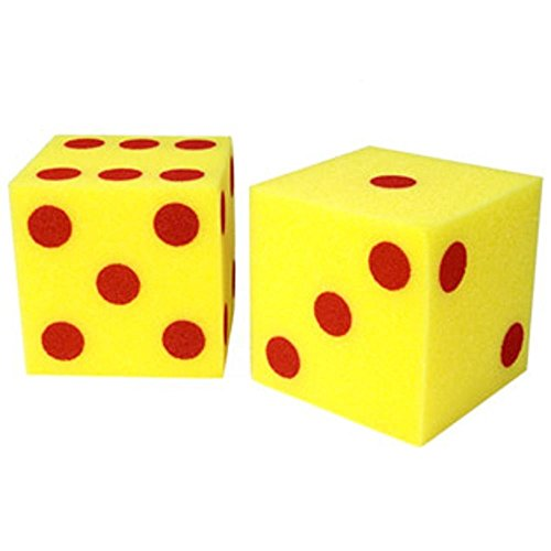 Dice Dot Soft (Giant Soft Cubes Dot 2/pk 5 Inch Cube Square)