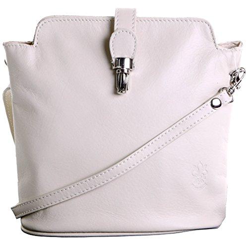 Primo Sacchi Italian Soft Leather Hand Made Small Cream Cross Body or Shoulder Bag Handbag