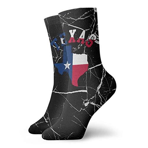 Q78WZI50 Texas Flag Sport Compression Short Sock Best for Men & Women Football Travel 12
