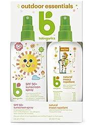 Babyganics Sunscreen Spray 50 SPF and Bug Spray, 6oz each, Packaging May Vary