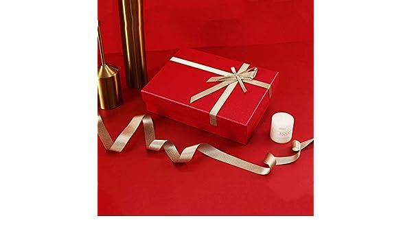 Z-Live - Caja de Regalo Premium, Caja Rectangular roja, Caja de cartón Decorativa, Cinta Dorada, para cumpleaños de Bodas de Navidad, tamaño Opcional: Amazon.es: Hogar