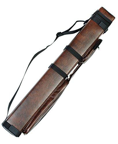 2x2 Hard Pool Cue Billiard Stick Carrying Case, Brown