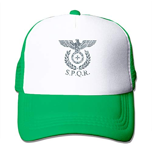 (Adult Unisex Roman Emblem SPQR Trucker Baseball Mesh Cap Adjustable)