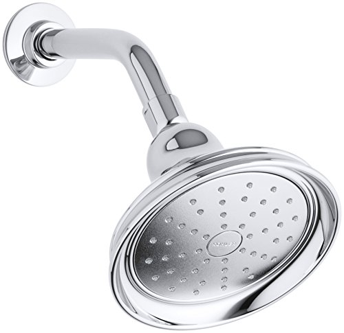 KOHLER K-14519-CP Bancroft 2.0 GPM Single-Function Showerhead with Katalyst Spray, Polished Chrome