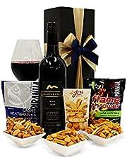 Wine and Nuts Hamper (Choose Wine Type)
