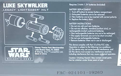 Galaxy's Edge Star Wars Legacy Lightsaber