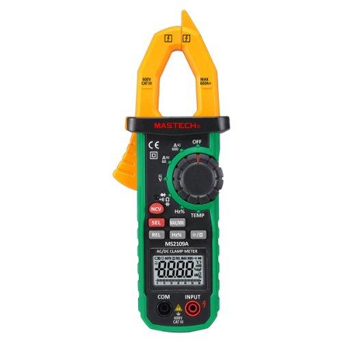 Mastech MS2109A True RMS Digital AC DC Clamp Meter 600A Temp NCV RC Test -