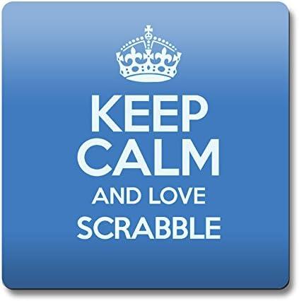Azul Keep Calm and Love Scrabble cierre magnético color 1008: Amazon.es: Hogar