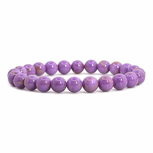 Natural Phosphosiderite Gemstone 8mm Round Beads Stretch Bracelet 7