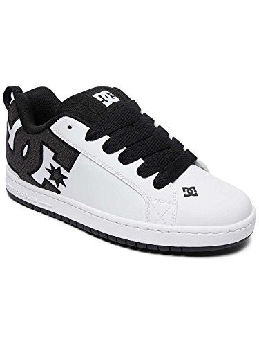Black White Shoes S Sneaker Graffik taglia White M DC Court T0xq66Z