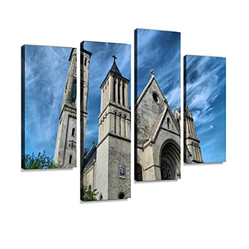 St. Peter's Church in Staten Island, New York Canvas Wall Art Hanging Paintings Modern Artwork Abstract Picture Prints Home Decoration Gift Unique Designed Framed 4 Panel