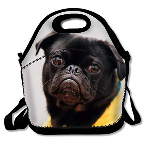IMISS Insulated Lunch Tote Bag Pug Wear Yellow Shirt - Porta