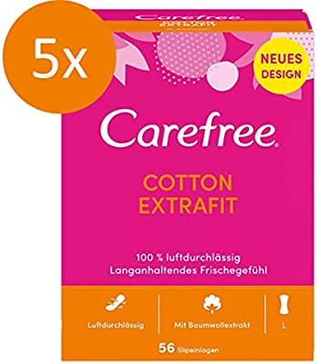 Carefree Cotton ExtraFit - Protegeslips (transpirable, extra ancho ...