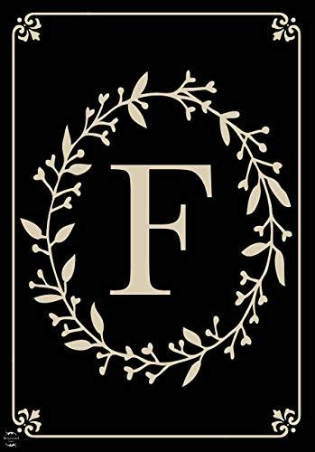 Briarwood Lane Classic Monogram Letter F Garden Flag Everyday 12.5