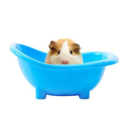 PanDaDa Pet Hamster Bath Tub Small Animals Bathtub Shape Sand Room Sauna Toilet Bathtub