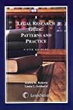 Legal Research Guide : Patterns and Practice, Roberts, Bonita K. and Schlueter, Linda L., 0820564729
