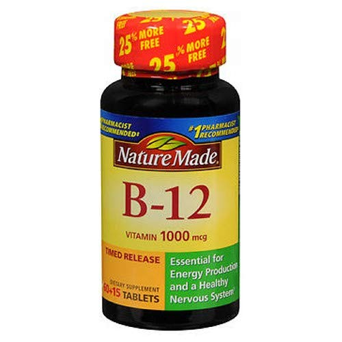 Nature Made Nature Made Vitamin B-12, 75 tabs 1000 mcg(Pack of 3)