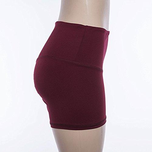 Plage Sport Dcontracts Casual Yoga Mode Bordeaux Elastique Fitness Femme t Taille Shorts Lisli Pants Haute xwWfPXBpq