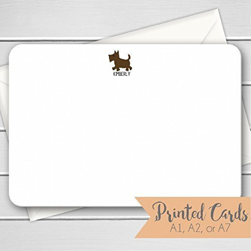 Dog Note Cards - 12pk, Dog Note Cards, Personalized Flat Not