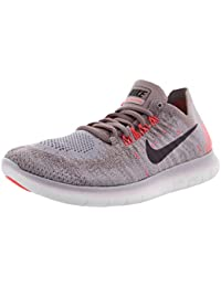 Womens Free RN Flyknit 2017 Running Shoe TAUPE GREY/PORT...