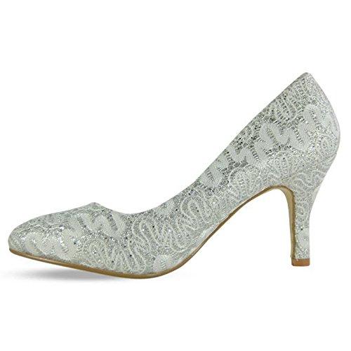 Unknown  Ladies Leather Shoes, Escarpins pour femme Marron Taupe (Brown)