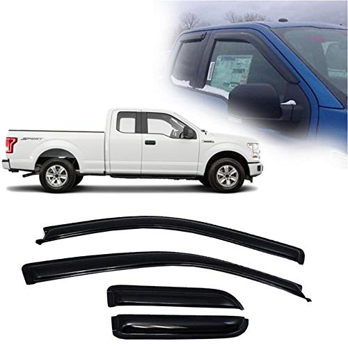 Ford F150 Ext Cab - Laprive Auto 4pcs for 15-19 Ford F150 SuperCab/Ext Cab Sun Rain Guard Vent Shade Window Visor